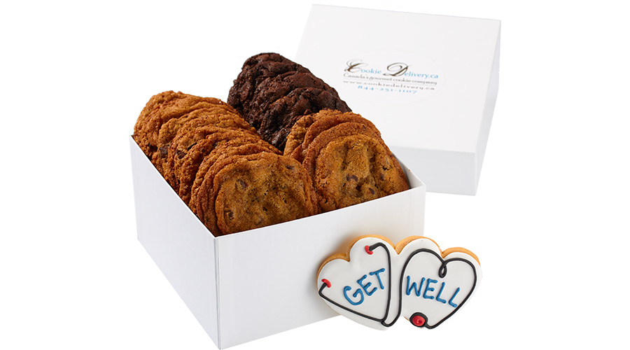 Get Well Cookie Gift Box Delivery