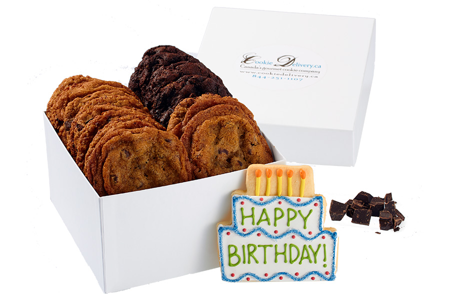 Send a Happy Birthday Cookies Gift Box for Delivery