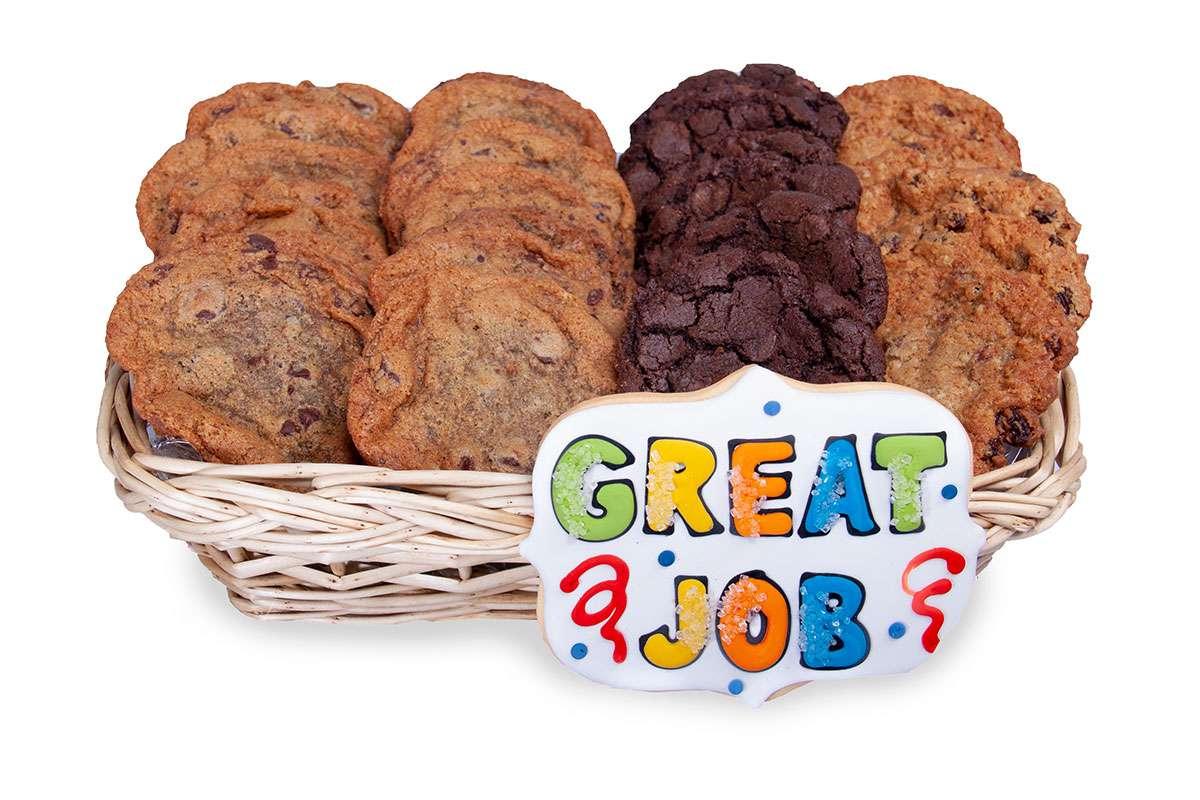 Great Job Gift Basket Gift Baskets Cookie Deliveryca Oakville