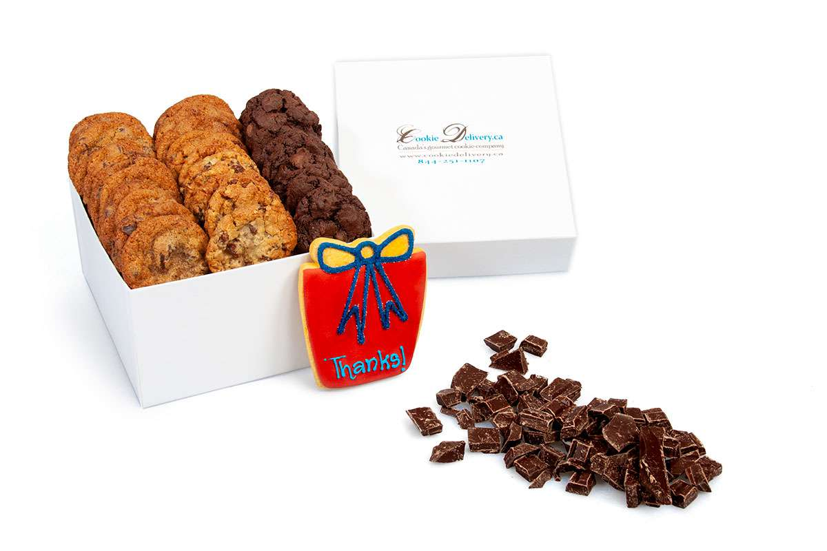 Red Thanks Mini Box Gift Boxes Mini Cookie Delivery Ca Oakville