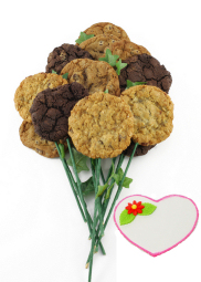Enlarge photo of Long Stem Love Cookie Bouquet